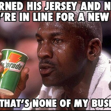 Burned his jersey...
