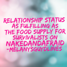 Relationship status as fulfilling as the...