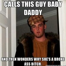 Wonders why she's a broke...