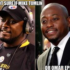 Not sure if Mike Tomlin or Omar Epps...