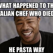 What happened to the Italian chef who died...