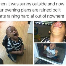 When it was sunny outside...