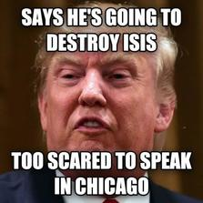Too scared to speak in Chicago...