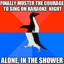 Alone in the shower...