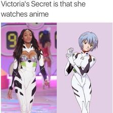 Victoria's secret is that she watches anime...
