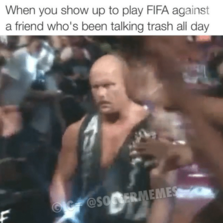 When you show up to play fifa...