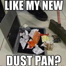 Like my new dust pan?