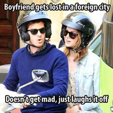 Boyfriend gets lost in a foreign city...