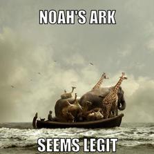 Noah's ark seems legit...