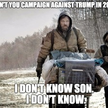 Why didn't you campaign against Trump...