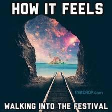 How it feels walking into the festival...