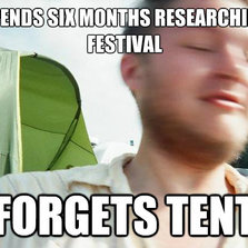 Spends six months researching festival...
