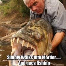Jeremy Wade simply walks into...