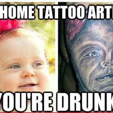 Go home tattoo artist...