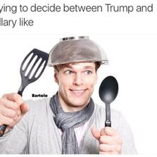 Trying to decide between Trump and Hillary like...