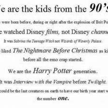 You know you are a 90's kid