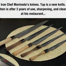 Iron Chef Morimoto's knives