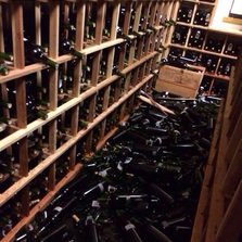 Earthquake at wine country