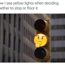 How I see yellow lights