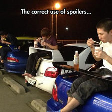 The correct use of spoilers