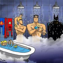 Justice League Shower, Look At Aquaman