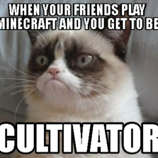 when your friends play minecraft and you get to be Cultivator