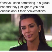 When you said something in a group chat