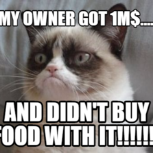 my owner got 1m$.... and didn't buy food with it!!!!!!!
