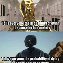 Probability of dying