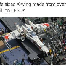Life sized X-wing LEGO