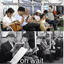 Technology makes us anti social