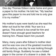 Edison's Mother