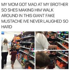 Mustache punishment