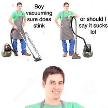 Vacuuming stinks
