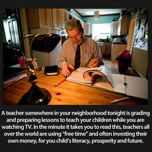 A Teacher Is Grading A Test Somew...