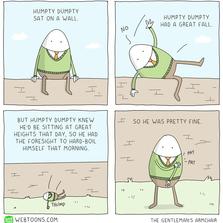 Humpty dumpty sat on a wall