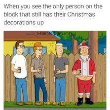 Still has Christmas decorations u...