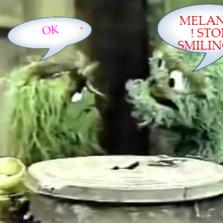 MELANIA ! STOP SMILING !!  OK
