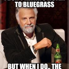 i don't always listen to bluegrass but when i do.. the sky turns green