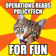 Operations reads policytech for fun