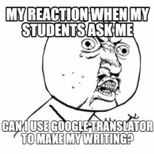 A teacher's pain!