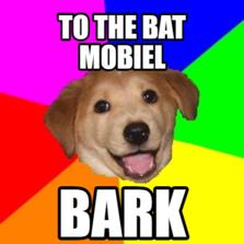 to the bat mobiel bark
