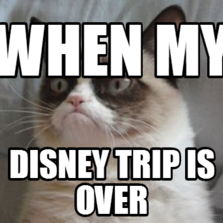 WHEN MY DISNEY TRIP IS OVER