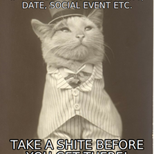 If you are going to a party, date, social event et