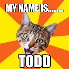 my name is......... todd