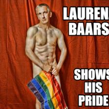 Laurenz Baars shows his PRIDE