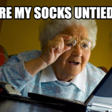 are my socks untied?