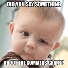 did you say something  about the summers grant?