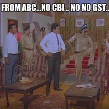WE are from ABC...no CBI... no no gst...er TDS!