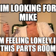 IM LOOKING FOR MIKE IM FEELING LONELY IN THIS PARTS ROOM
